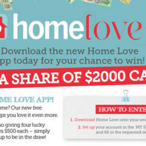 Win a Share of $2000 with the Home Love App