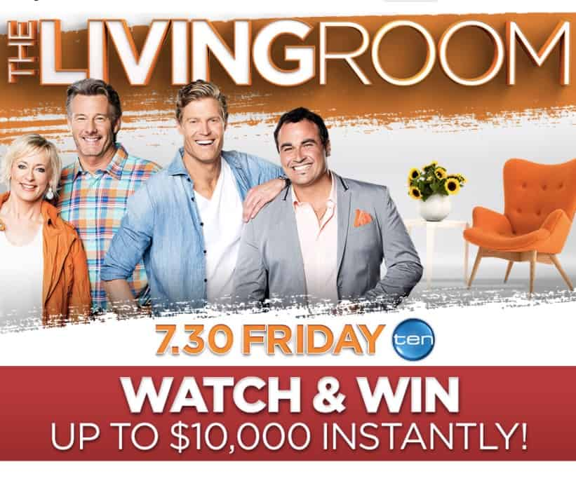 The living room channel ten competition living room for Living room tv channel 10